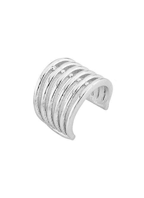Argentum Concept Modern Gümüş Kıkırdak Küpe Renkli